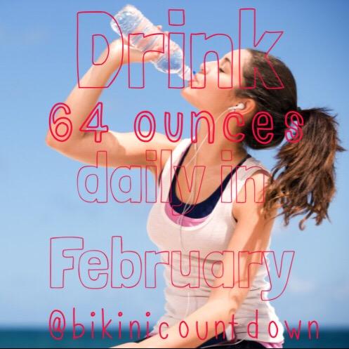 Bikini Countdown Water Challenge